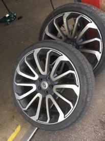 Range Rover sport alloys and tyres £200 each