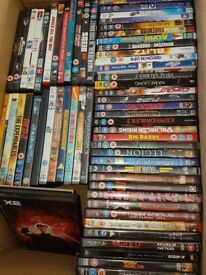 Huge selection of dvds over 200 discs will suit collector or car booty