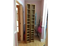 2 Ikea shelving units we used for storing DVDs and CDs