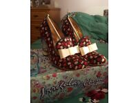 Irregular Choice Ozzy Red/Blue Size 41 with box