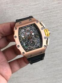 Richard Mille RM011 rose gold and silver colour