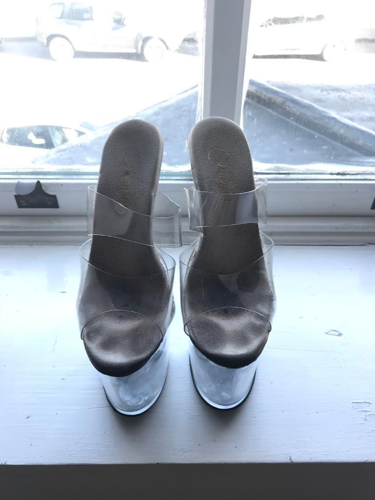 "d4c8b3e24014 USED 7"" Extreme geek Taboo Slip-on Mule"