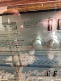 Amstrad vintage hifi / turntable / double cassette