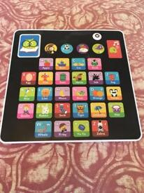Alphabet tablet toy