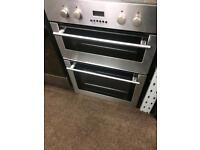 Stainless still deplomat 60cm by 85cm integrated electric grill & double fan assisted ovens with gua