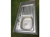 stainless steel kitchen sinks one with taps ..