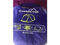 SOLD Freedom Trail pitch n go blue tent never been used