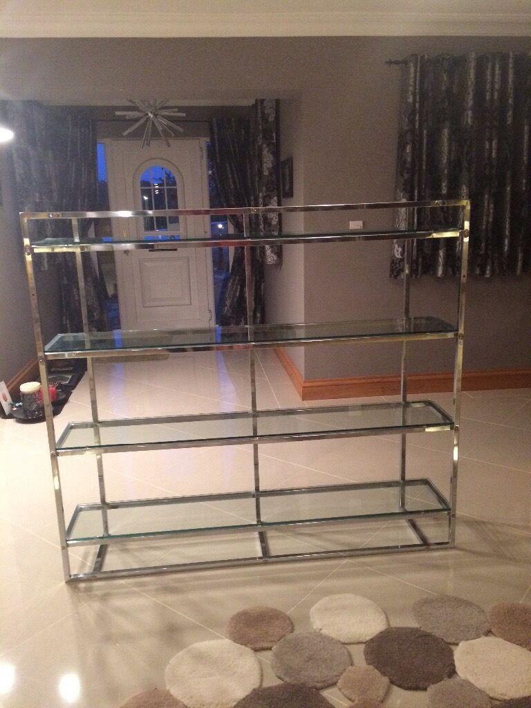 Trendy Gl Chrome Shelving Unit 4 Shelves Excellent
