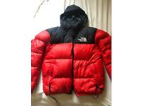 Mens north face red nuptse 700 puffer