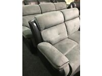 Grey black full recliner 3/2 suite
