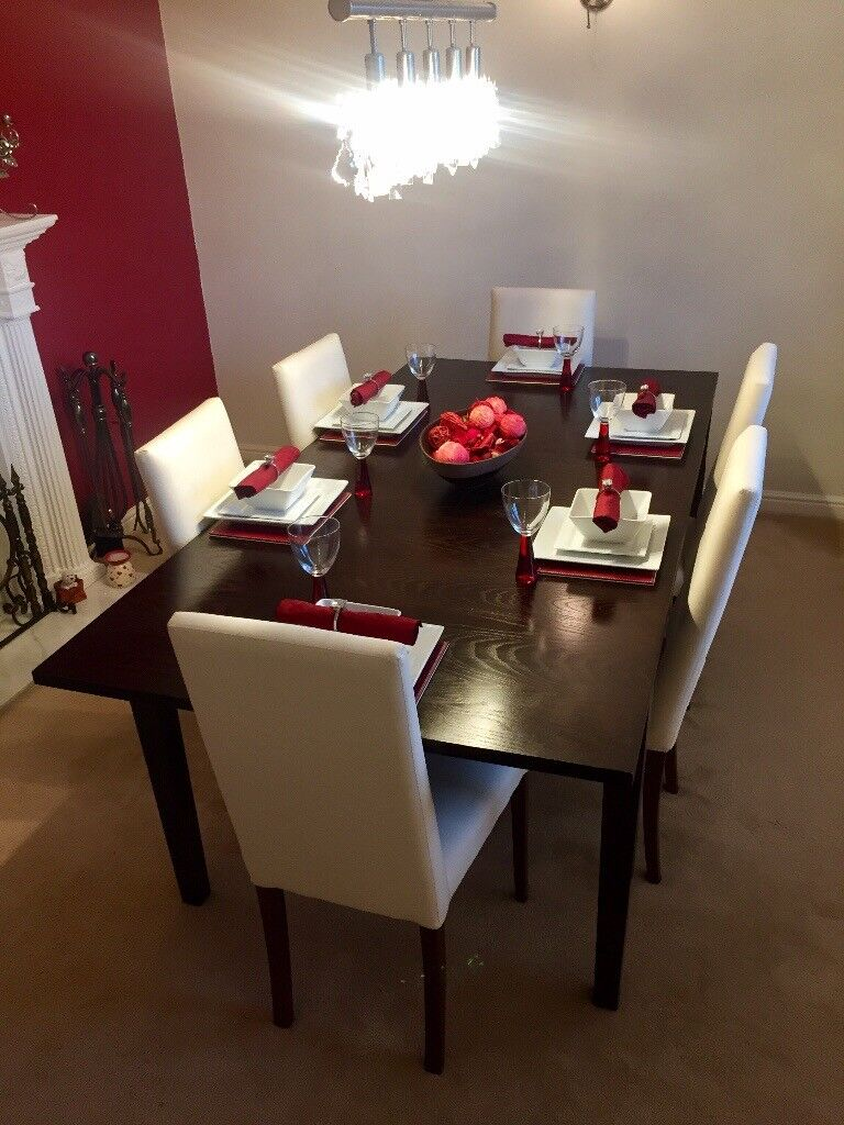 6 8 Seater Extending Dining Table