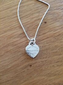 Silver Tiffany and Co Charm