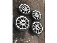 """Set of 4 18"""" bmw mv2 Alloy Wheels staggered wider fears"""