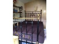 Antique Iron Small Double Bed £50