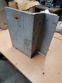 Pair of galvanised seat boxes