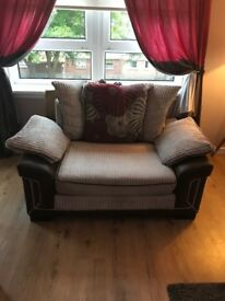 3 seater and cuddle chair . Excellent condition
