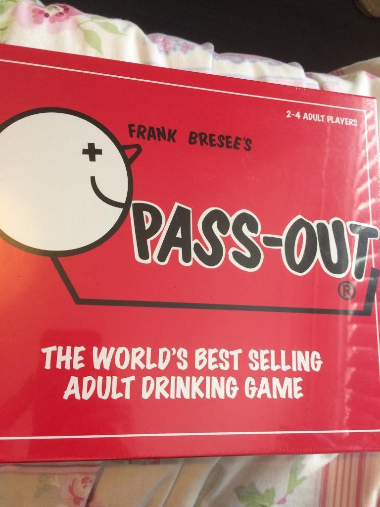 Pass out - adult drinking game