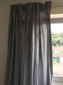 Light blue curtains