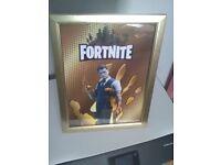 Fortnite (Golden Midas) poster in golden frame,brand new multiple available