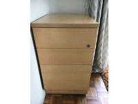 Beech Effect Filing Cabinet