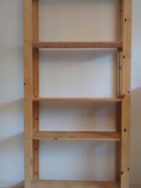 Solid Pine 5 Shelf Unit