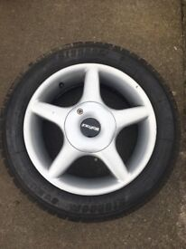 Citroen AX Wolfrace Alloy Wheels and Tyres 5Jx14 ET20 3x98 PCD