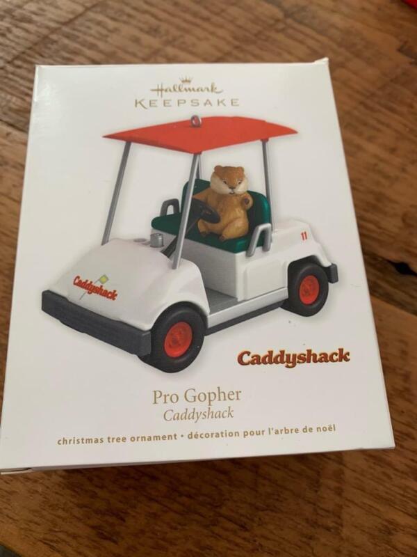 Hallmark Keepsake Ornament Pro Gopher Golfer Caddyshack 2011 Golf Golfing Cart