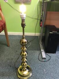 Brass candlestick lamp base