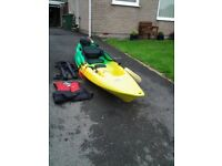 Kayak - with life jacket, helmet, paddle, leash and roof straps!