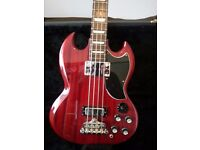 Epiphone Bass guitar GS type made by Gibson in excellent condition nearly new with hard case