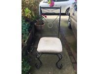 Metal High Back Chairs x 5