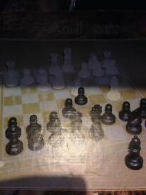 New glass chess board