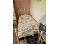 Single size iron bed frame and matress