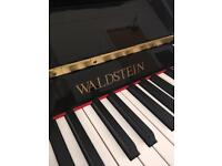 Waldstein upright Black gloss 108 Park Pianos Bolton