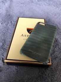 Aspinals iPhone 7 Plus / 8 Plus Leather Croc Case