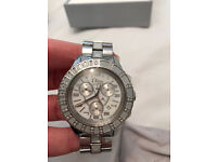 Genuine Christian Dior Christal - 76 Diamond & Sapphire Chronograph Watch - Mens/Ladies/Unisex