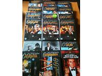 James bond dvds x19 (12 are doubles)