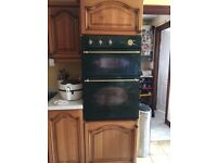 CREDA GREEN COLONIAL DOUBLE DUAL BUILT IN COOKER OVEN