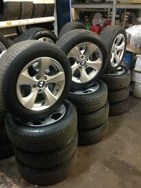 """BMW 16"""" alloys and tyres"""