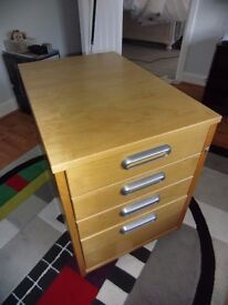 Ikea Galant Office 4 Draw Unit