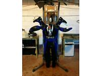 Motor bike suit n boots( size 6 boots small suit)