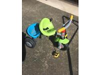 Kids / toddlers trike with parent handle