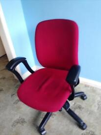 Office home chair red black with wheels comfy computer desk chair