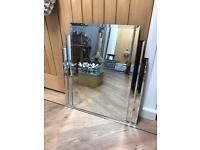 Beautiful All Glass Art Deco Style Mirror