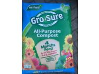 FREE SAME DAY DELIVERY! Westland gro sure Compost, 50 Litre. £10 per bag, min Order 3 bags for £30