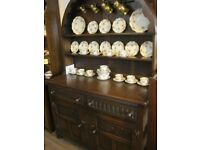 VINTAGE SOLID OAK DUTCH DRESSER. TOP DETACHABLE. VIEWING - DELIVERY AVAILABLE for sale  Bodmin, Cornwall