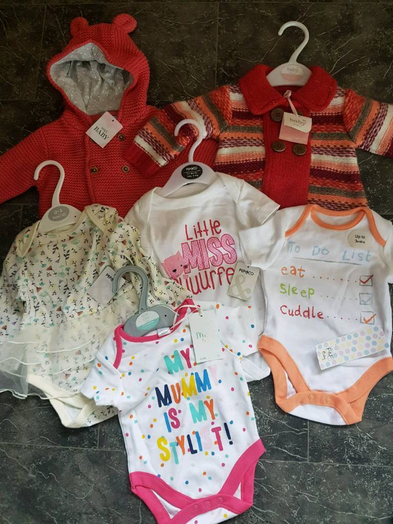 Girls' Clothing (newborn-5t) Clothing, Shoes & Accessories 0-3 Months Baby Girl Clothes Bundle