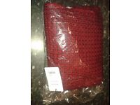 Brand New With Tags Paul Smith thick knit scarf - two tone red/burgundy perfect Christmas gift