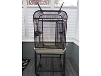 Open top bird cage
