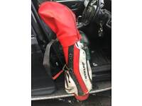Red Dunlop Golf Carry Bag for you Golf Clubs Can Deliver Locally for £5